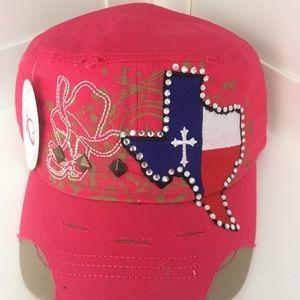 Accessories - Pink Texas Cadet Cap